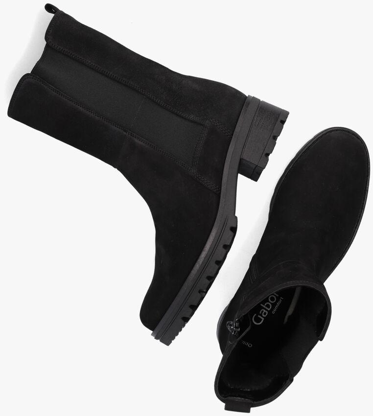 Zwarte GABOR Enkellaarsjes 781.1  - larger