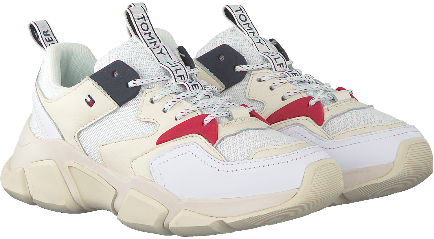 4d6993e12fda74 Witte TOMMY HILFIGER Sneakers WMN CHUNKY - Omoda.nl