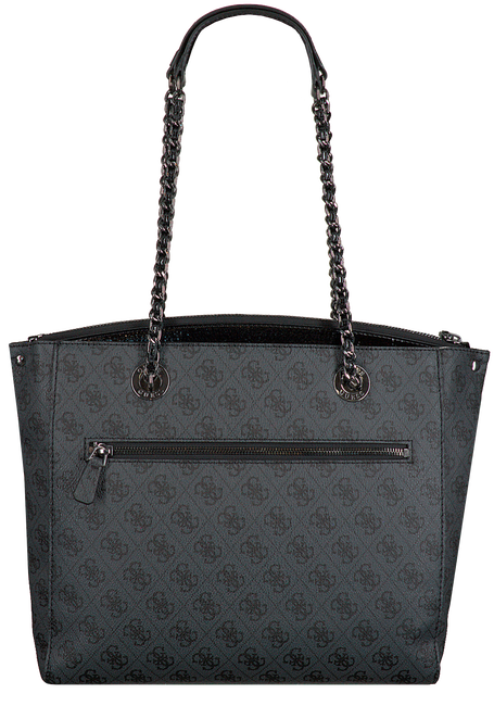 Grijze GUESS Handtas LOGO CITY GIRLFRIEND CARRYALL  - large