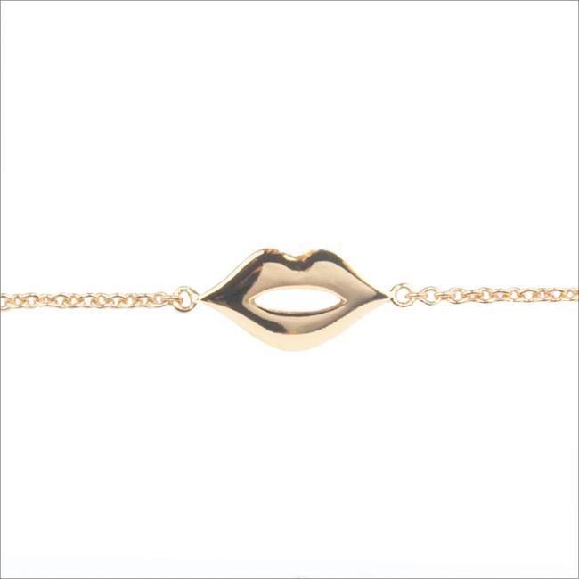 Gouden ALLTHELUCKINTHEWORLD Armband SOUVENIR BRACELET LIPS - large