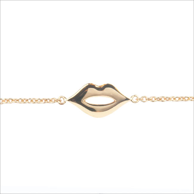 Gouden ATLITW STUDIO Armband SOUVENIR BRACELET LIPS - large