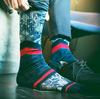Blauwe XPOOOS Sokken EAST WEST - small