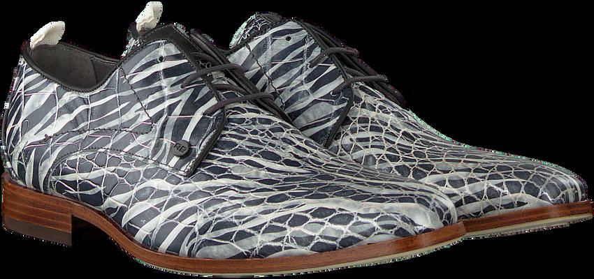 Grijze REHAB Nette schoenen GREG CROCO ZEBRA  - larger