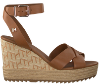 Cognac TOMMY HILFIGER Sandalen TH RAFFIA HIGH WEDGE  - medium