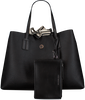 Zwarte TOMMY HILFIGER Shopper COOL TOMMY TOTE METALLIC - small