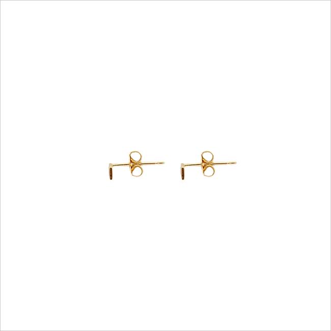 Gouden ALLTHELUCKINTHEWORLD Oorbellen PETITE EARRINGS RHOMB - large