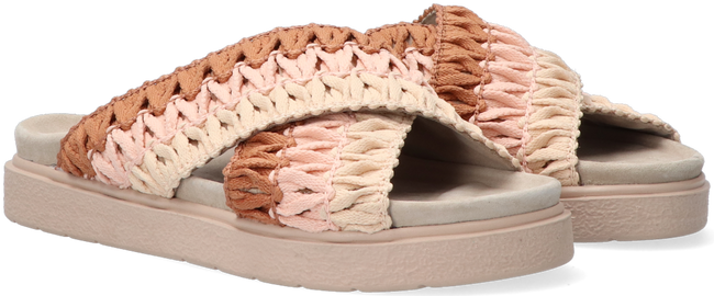 Roze INUIKII Slippers KNITTED CROSSED  - large