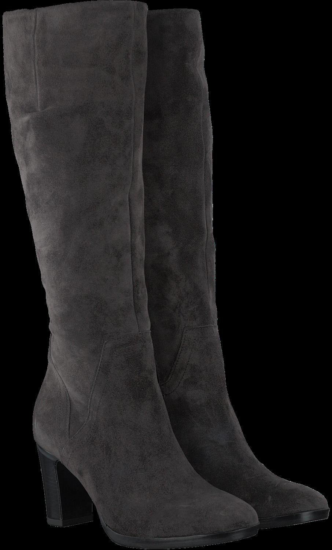 lange grijze suede laarzen