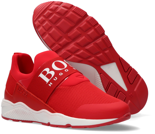 Rode BOSS KIDS Lage sneakers BASKETS  - large