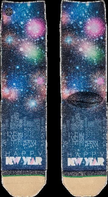 Zwarte XPOOOS Sokken XMAS HAPPY NEW YEAR 80'S - large