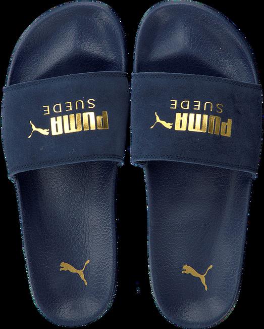 Blauwe PUMA Slippers LEADCAT SUEDE MEN - large