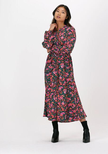 Paarse NEO NOIR Midi jurk CILIAN FLOWER MIX DRESS - large