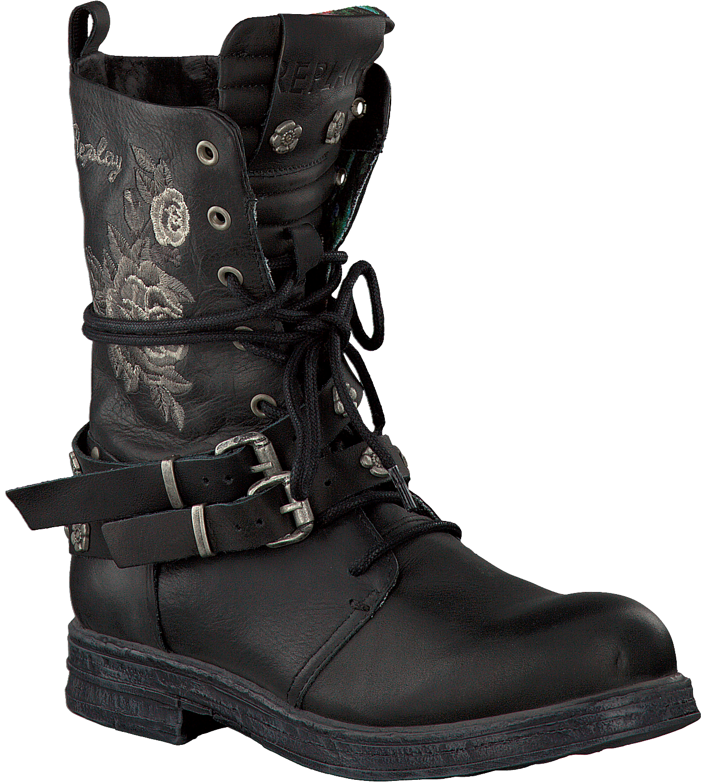Zwarte REPLAY Biker boots DUNYA | Omoda