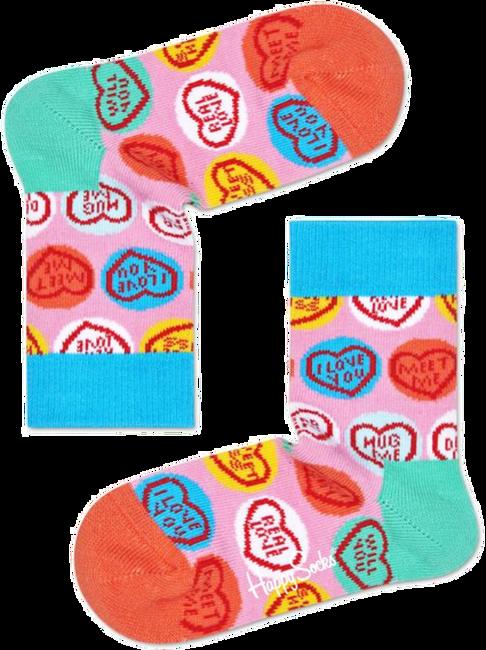 Roze HAPPY SOCKS Sokken SWEET HEART  - large