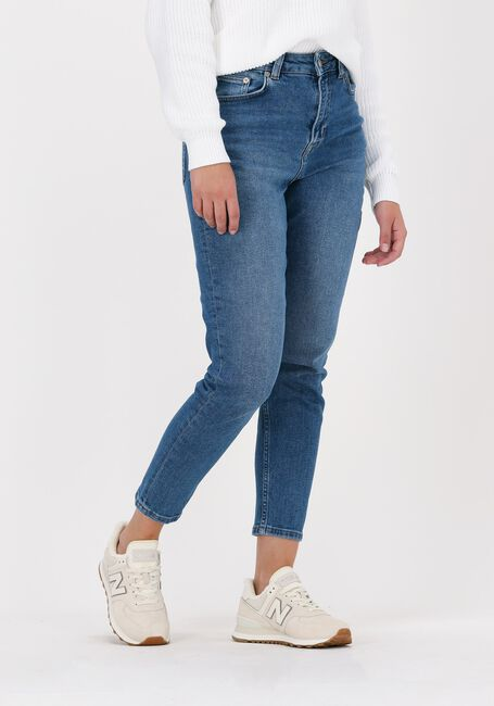 Blauwe NA-KD Straight leg jeans COMFORT MOM JEANS  - large