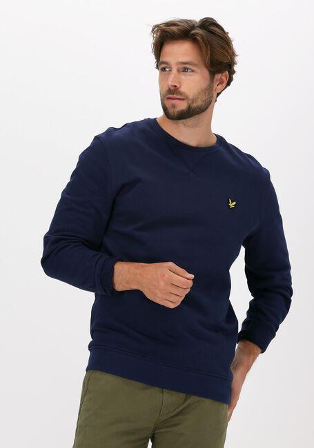 Blauwe LYLE & SCOTT Sweater CREW NECK SWEATSHIRT - large