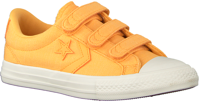 Gele CONVERSE Sneakers STAR PLAYER 3V OX KIDS  - large