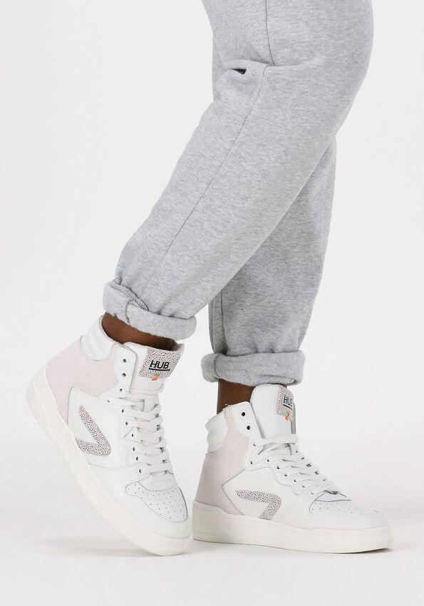 Witte HUB Hoge sneaker COURT-Z HIGH  - larger