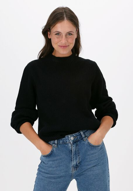 Zwarte SELECTED FEMME Trui SLFLESLIE LS KNIT O-NECK B  - large