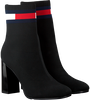 Zwarte TOMMY HILFIGER Enkellaarsjes SOCK HEELED BOOT - small
