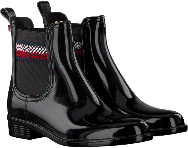 Zwarte TOMMY HILFIGER Regenlaars CORPORATE RAINBOOT  - large