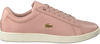 Roze LACOSTE Sneakers CARNABY EVO DAMES  - small