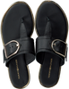 Zwarte TOMMY HILFIGER Slippers FLAT SANDAL OVERSIZED BUCKLE  - small