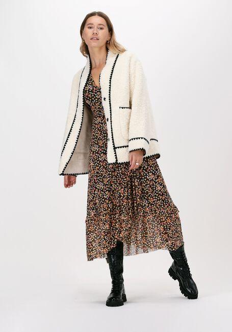 Beige FABIENNE CHAPOT Midi jurk NATASJA FRILL DRESS  - large