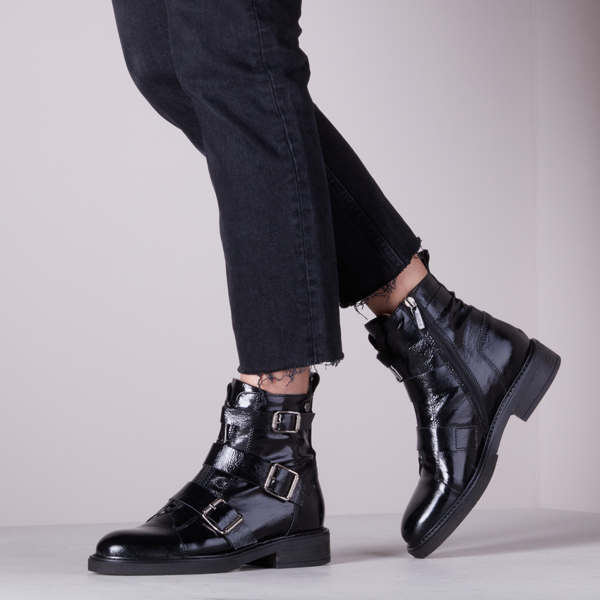 Zwarte NOTRE-V Biker boots 01-329  - larger