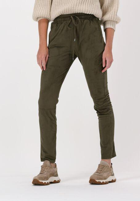 Groene SIMPLE Pantalon SUEDINE PANTS - large