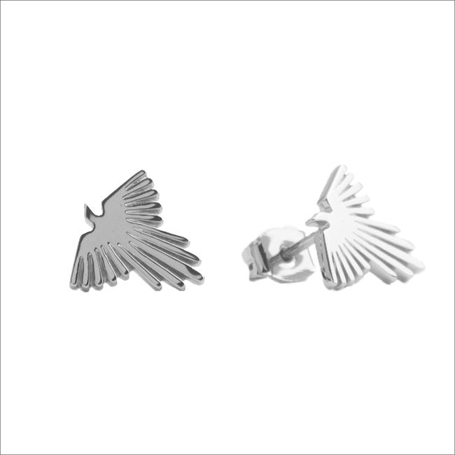 Zilveren ATLITW STUDIO Oorbellen PARADE EARRINGS EAGLE - large