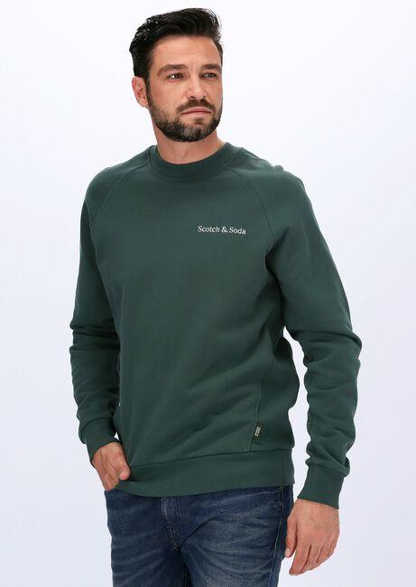 Groene SCOTCH & SODA Sweater FELPA CREWNECK SWEAT IN ORGANI  - large