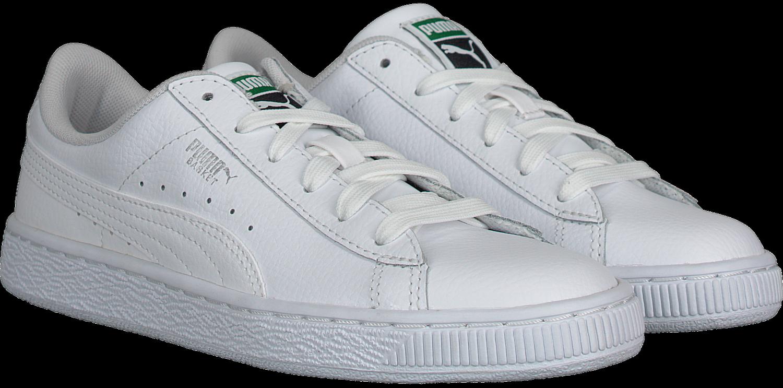 0ba15bfa803 Witte PUMA Sneakers BASIC CLASSIC LFS KIDS - Omoda.nl