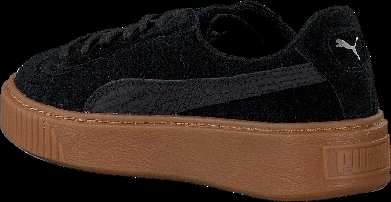 12b063dc995 Zwarte PUMA Sneakers SUEDE PLATFORM ANIMAL - Omoda.nl