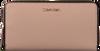Roze CALVIN KLEIN Portemonnee NEAT LARGE ZIP AROUND  - small