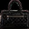 Zwarte GUESS Handtas PEONY SHINE BOX SATCHEL  - small