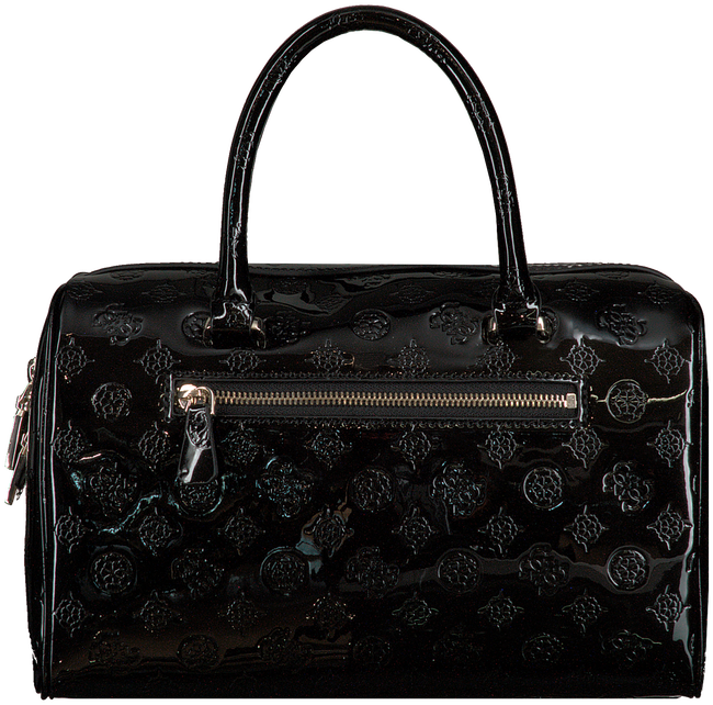 Zwarte GUESS Handtas PEONY SHINE BOX SATCHEL  - large