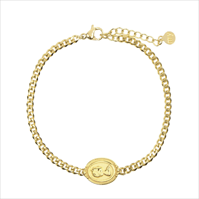 Gouden MY JEWELLERY Armband ARMBAND BEDEL CAMEE  - large