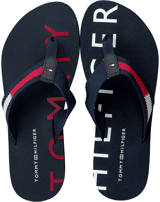 Blauwe TOMMY HILFIGER Slippers FLAT BEACH  - large