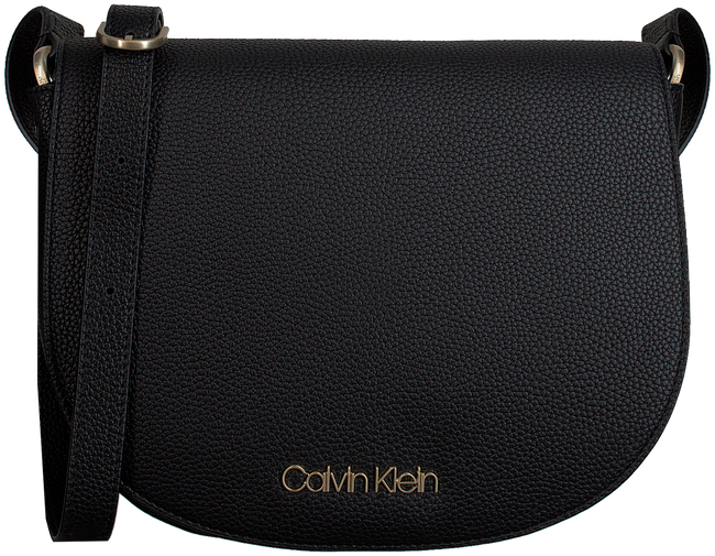 Zwarte CALVIN KLEIN Schoudertas NEAT MEDIUM SADDLE - large