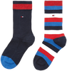 Blauwe TOMMY HILFIGER Sokken TH KIDS BASIC STRIPE SOCK 2P - small