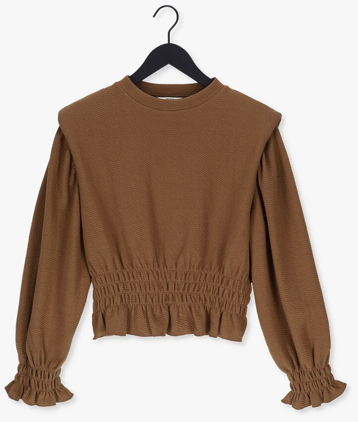 Bruine OBJECT Trui TAYLOR LS PULLOVER  - larger