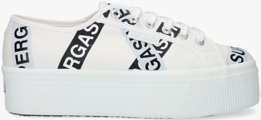 Witte SUPERGA Lage sneakers 2790 LETTERING TAPE  - larger