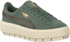 Groene PUMA Sneakers SUEDE PLATFORM TRACE - small