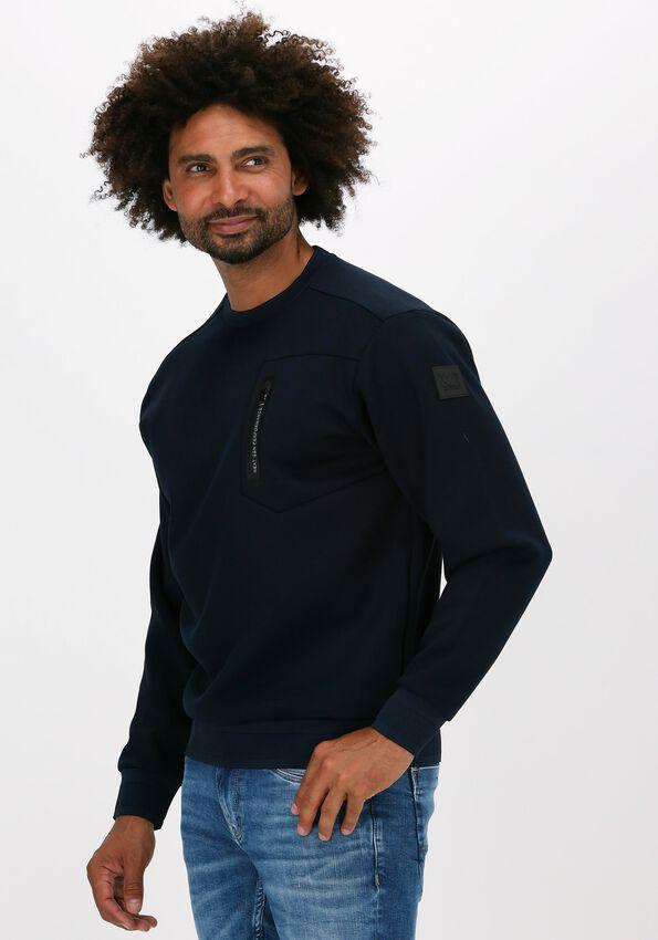 Donkerblauwe PME LEGEND Sweater R-NECK FANCY SWEAT XV - larger