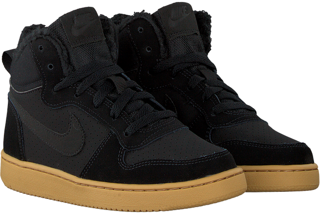 Zwarte NIKE Sneakers COURT BOROUGH MID WINTER KIDS - large