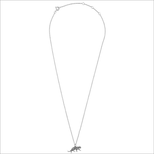 Zilveren ALLTHELUCKINTHEWORLD Ketting SOUVENIR NECKLACE LEOPARD - large