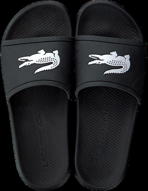 Zwarte LACOSTE Slippers CROCO SLIDE  - large