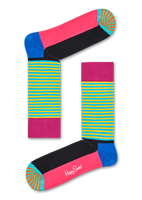 Blauwe HAPPY SOCKS Sokken HALF STRIPE  - medium