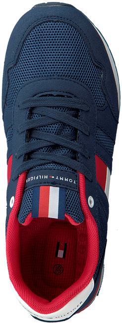 Blauwe TOMMY HILFIGER Sneakers LOW CUT LACE UP SNEAKER  - large
